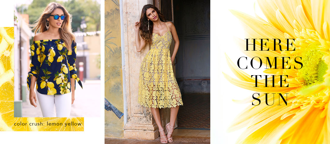 Shop lemon yellow summer styles