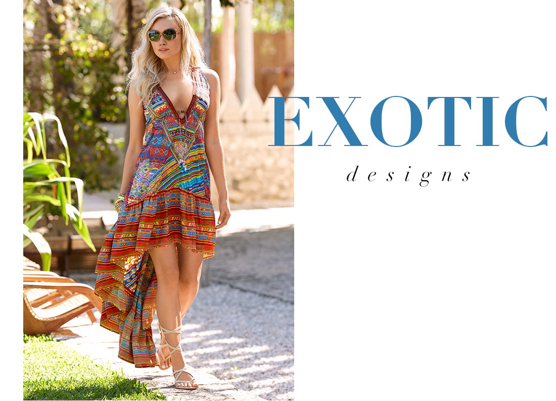 Shop bold and exotic prints