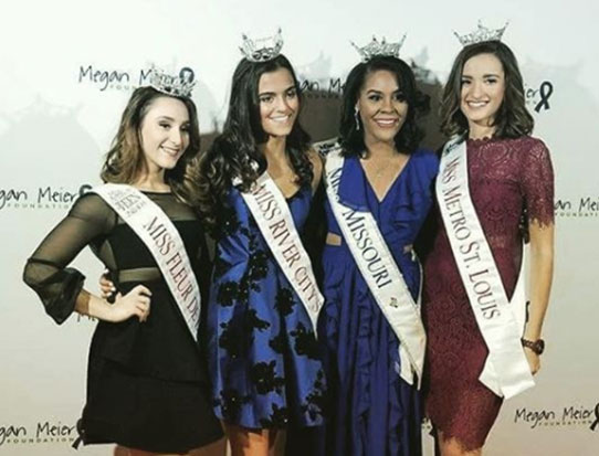 Jennifer Davis representing Missouri at the Miss America Competition